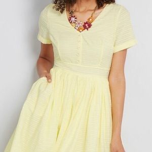 ModCloth yellow spring dress NWOT